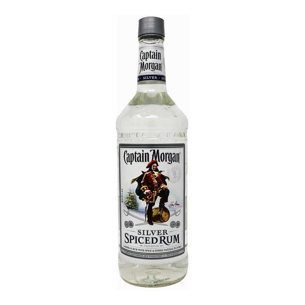 captain morgan silver rum bottle picture