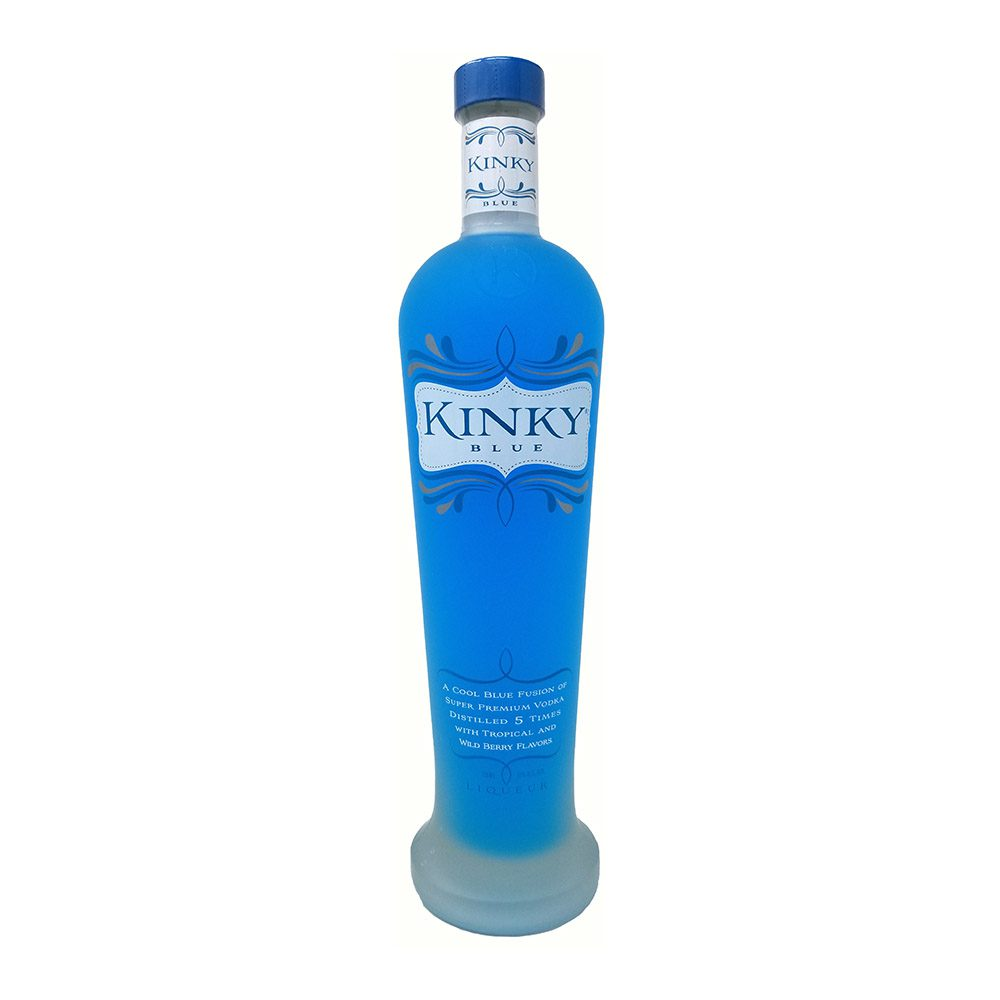kinky blue liqueur bottle picture