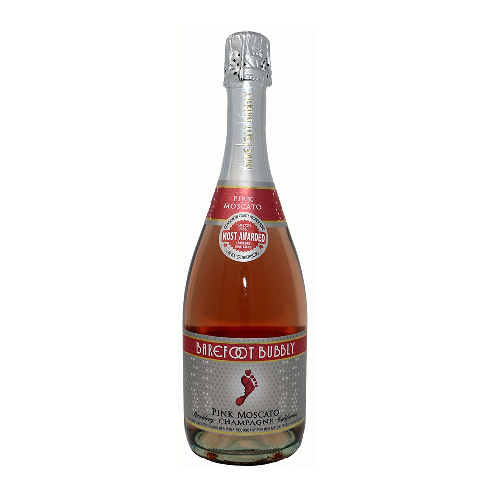 Barefoot Bubbly Pink Moscato Bottle Picture