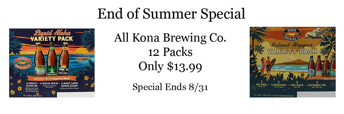 Kona Brewing 12 pk Sale $13.99