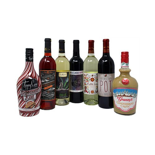 picture of a variety of wine and creams