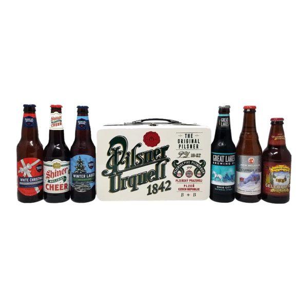 Assortment of winter beers picture