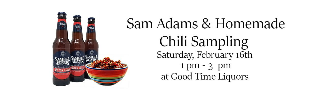 good time liquor sam adams and chili sampling photo