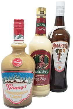 Holiday Liquor Bottles