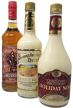 Assorted Holiday Liquor Bottles