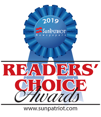Sun Patriot Readers Choice Award 2019 Badge